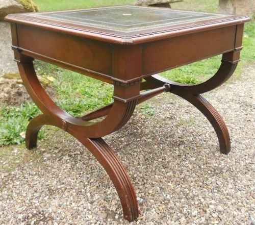 Regency Style Mahogany Cross Base Coffee Table